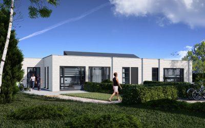 Plan Boschhuijs Berkel-Enschot: 3 moderne, duurzame patiobungalows.