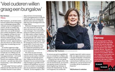 Vandaag staat er een interview met mij in het Brabants Dagblad. Onderwerp is de overspannen woningmarkt in Tilburg. Het stuk maakt deel uit van de serie 'Onbetaalbaar Wonen' van Bas Vermeer.